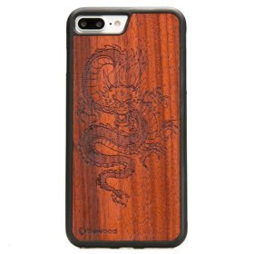 Bewood Czerwony Smok Padouk etui na telefon iPhone 7 Plus / iPhone 8 Plus