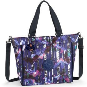 Kipling NEW SHOPPER L torba damska na ramię / Urban Flower