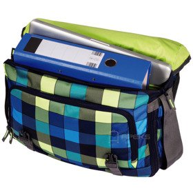 "Coocazoo HangDang II torba na ramię - laptop 15,6"" / Hip To Be Square Green"